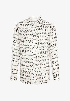 Button-down blouse - grey graffity aop