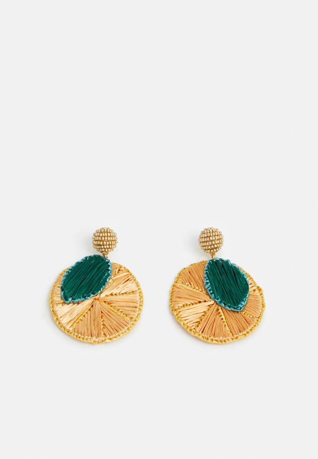 INIS ORANGE SLICE EARRINGS - Earrings - orange