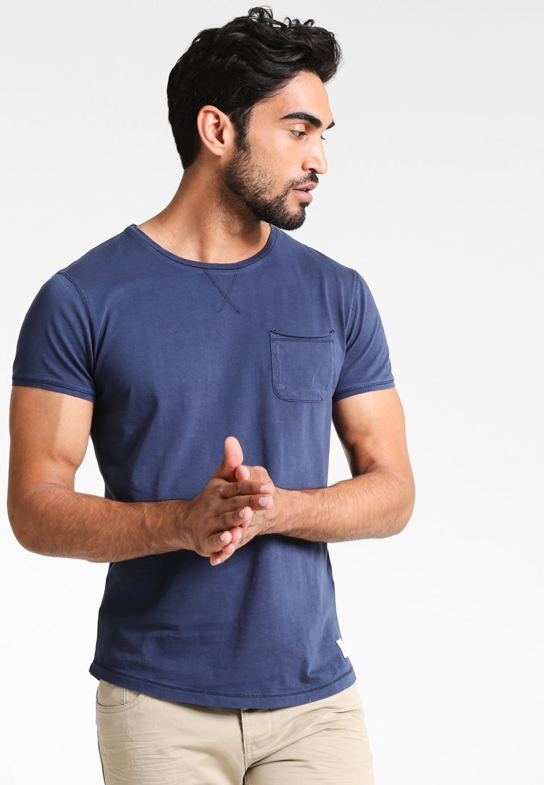 Men Basic T-shirt - navy