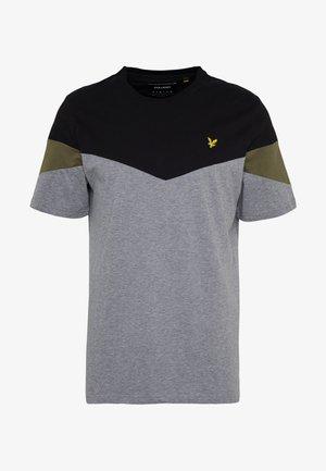 PANEL  - Print T-shirt - jet black/ mid grey marl