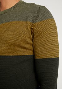 Only & Sons - ONSALEX  BLOCKED CREW  NECK KNIT - Stickad tröja - dried herb - 5