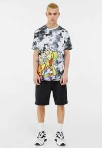 Bershka - Print T-shirt - black - 1