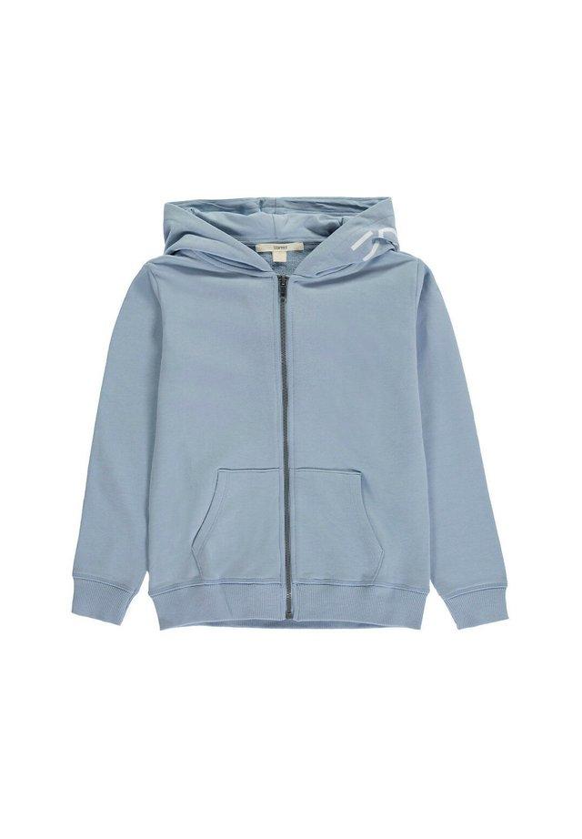 Hoodie met rits - grey blue