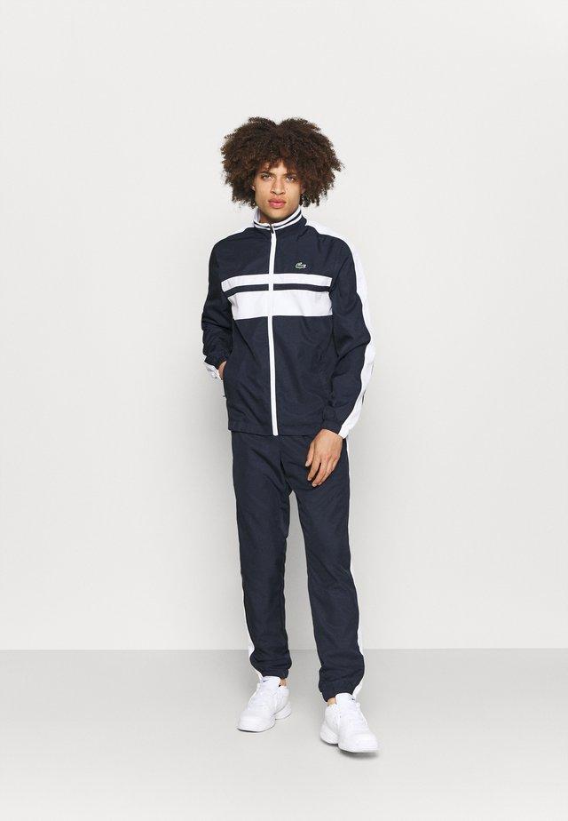 TRACK SUIT - Survêtement - navy blue/white