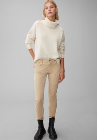 Marc O'Polo - ALBY SLIM - Trousers - vintage stone - 1
