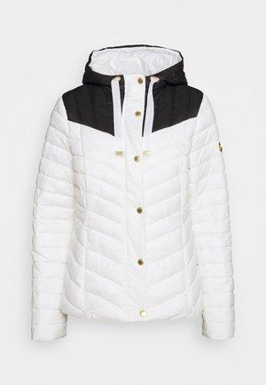LIGHTNING QUILT - Light jacket - optic white/black