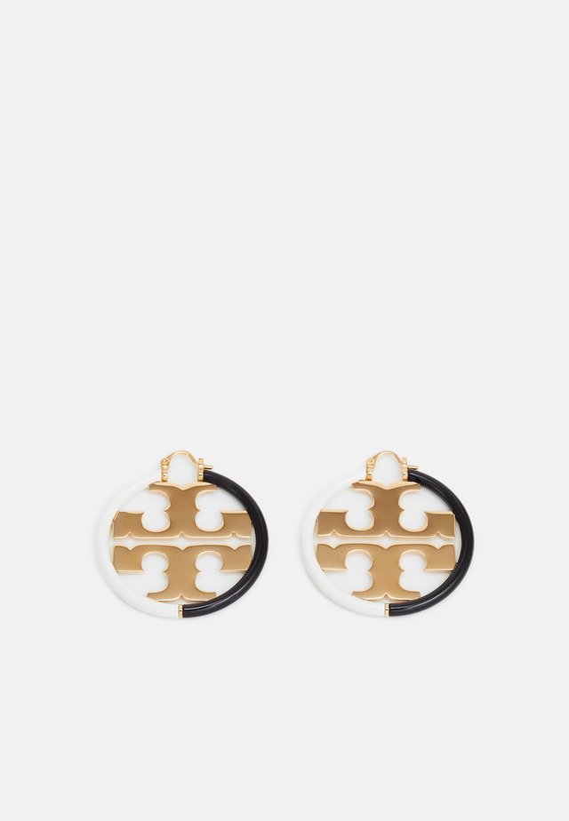 MILLER HOOP EARRING - Earrings - gold-coloured/black/new ivory