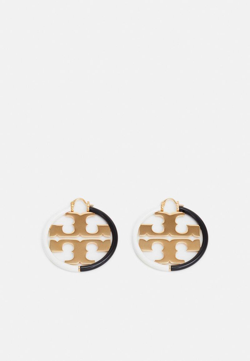 Tory Burch - MILLER HOOP EARRING - Náušnice - gold-coloured/black/new ivory