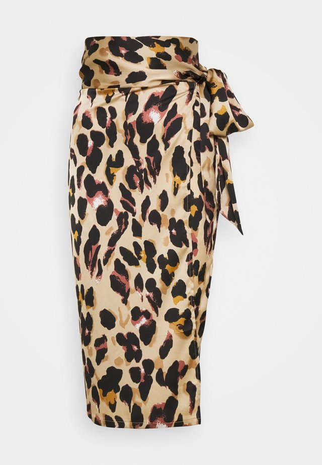LEOPARD JASPRE SKIRT - Kokerrok - brown