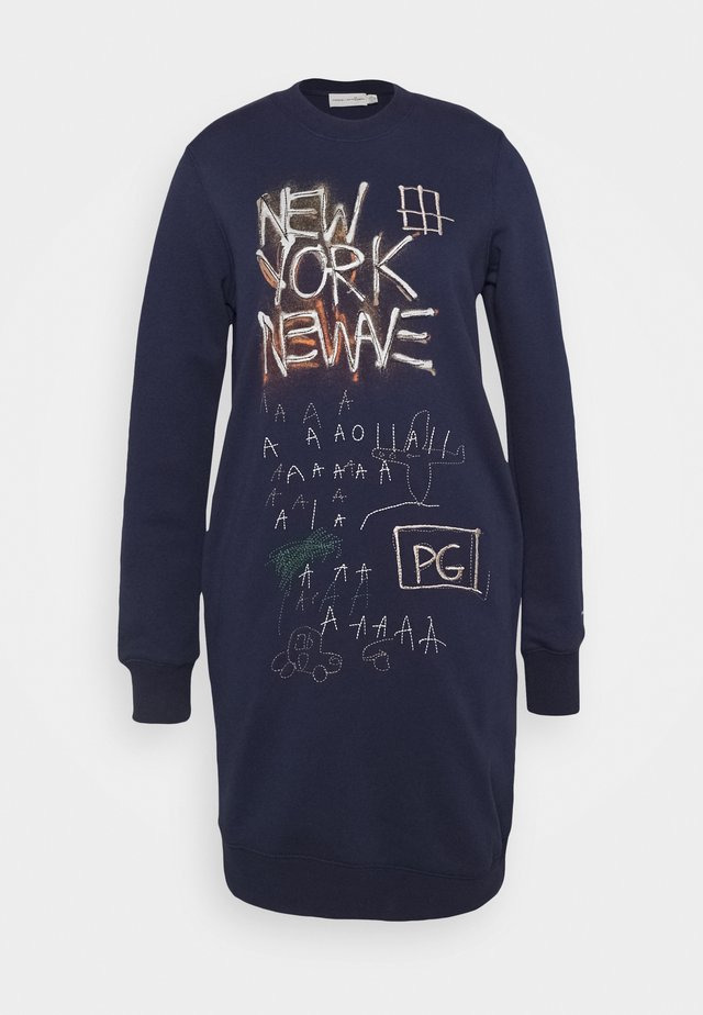 MICHEL BASQUIAT UNTITLED 1980 CREWDRESS - Denní šaty - navy