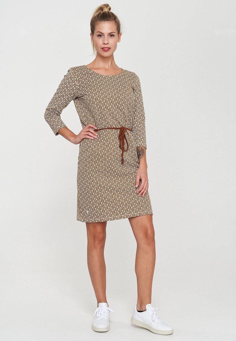Mazine - Day dress - offwhite/yellow/printed