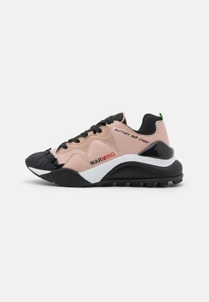 Trainers - black/nude/green