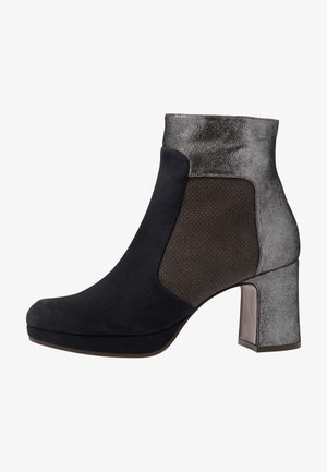 HELMUT - Platform ankle boots - asfalto/galaxy/lame silver