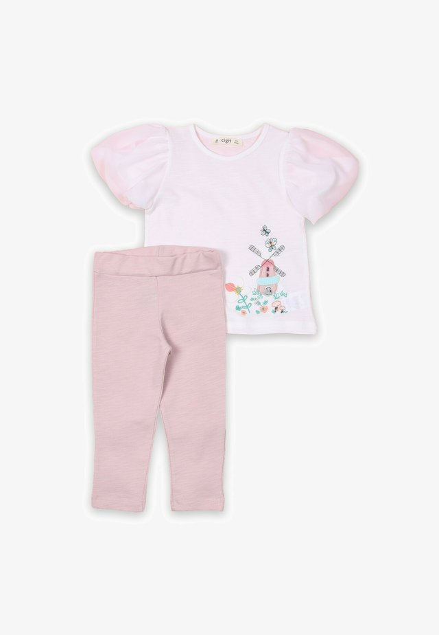 SET - Leggings - light pink