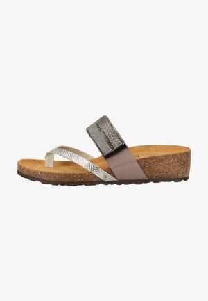 ZEHENSTEG - T-bar sandals - silver