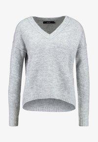Vero Moda - VMLUCI HIGH LOW  - Jumper - light grey melange - 4