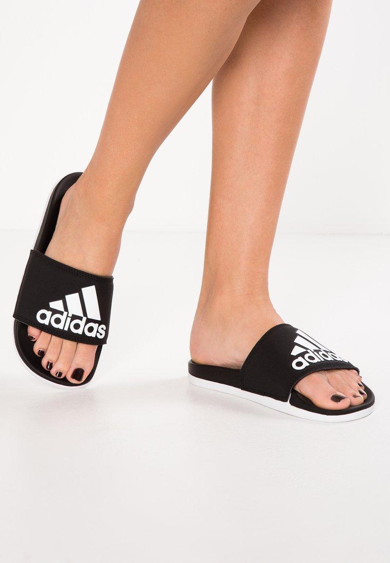 adidas Performance - ADILETTE CF LOGO - Sandály do bazénu - core black/footwear white