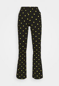 Colourful Rebel - DOTS BASIC FLARE PANTS WOMEN - Leggings - black - 4