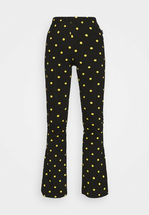 DOTS BASIC FLARE PANTS WOMEN - Leggings - black