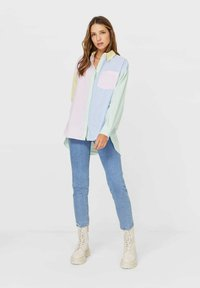 Stradivarius - Button-down blouse - multi-coloured - 1