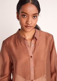 comma - Button-down blouse - burnt sienna - 4