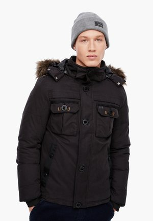 MIT FAKE FUR-BLENDE - Winter jacket - black