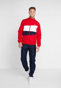 Lacoste Sport - TRACKSUIT - Träningsset - red/white/navy blue - 1