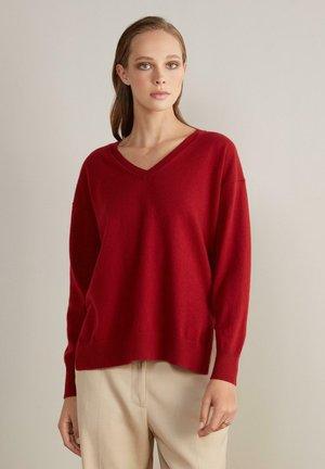 Jumper - mottled red