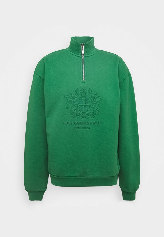 HALF ZIP - Bluza - green
