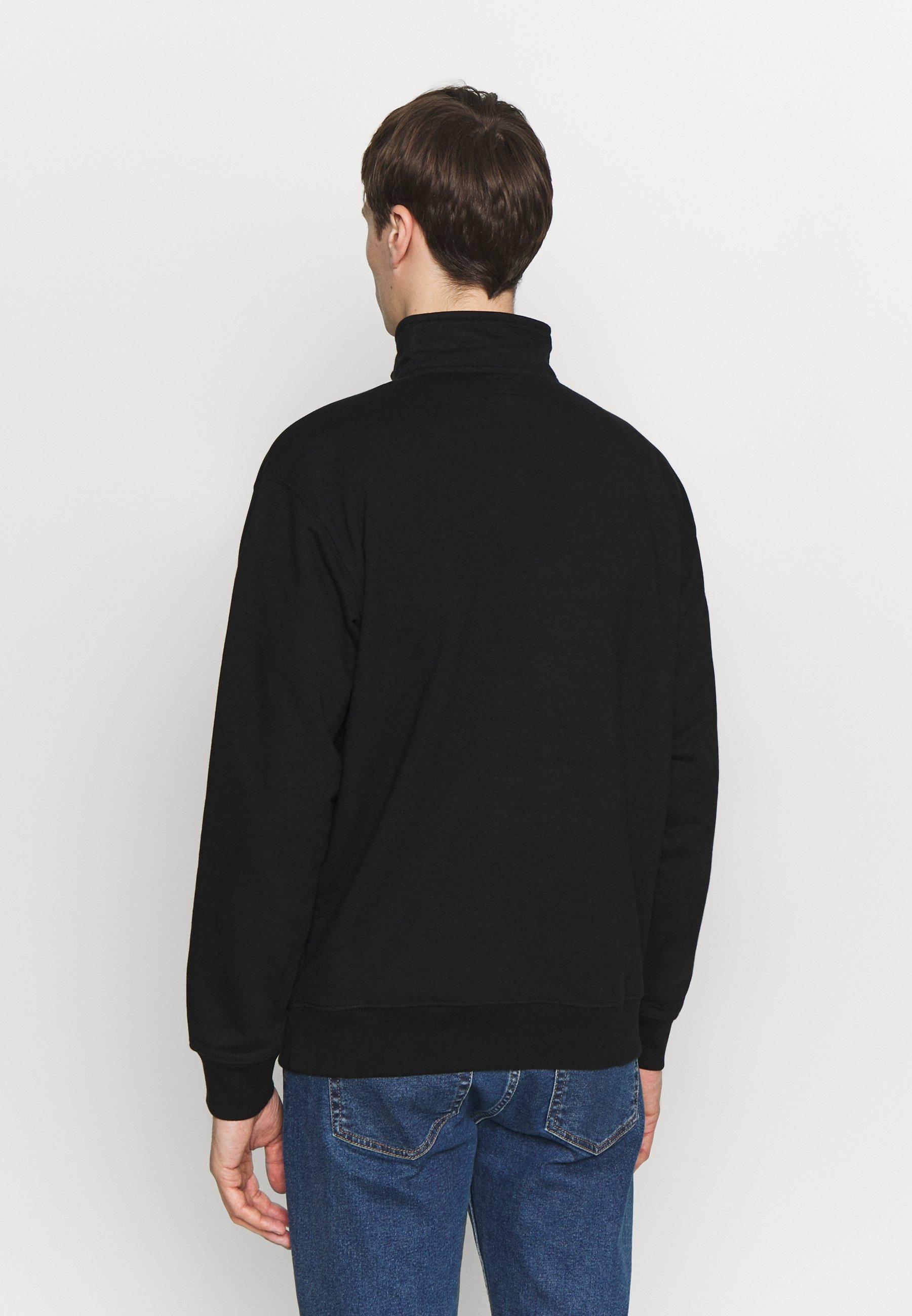 Obey Clothing COURT ZIP MOCK - Sweatshirt - black multi