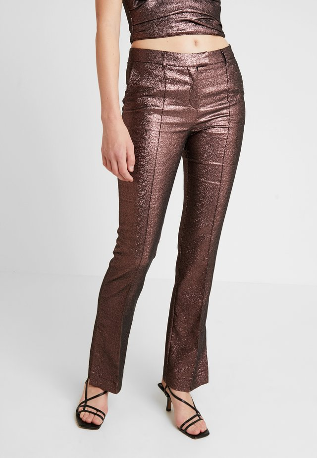 EMMA PANTS - Spodnie materiałowe - pink