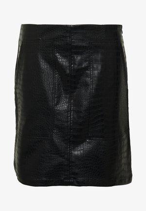 CROCA - Áčková sukně - black
