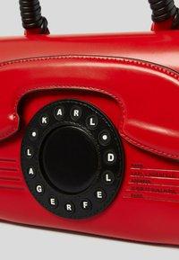 KARL LAGERFELD - TELEPHONE  - Handbag - red, white, black - 2