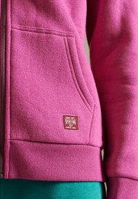 Superdry - Zip-up sweatshirt - magenta marl - 2