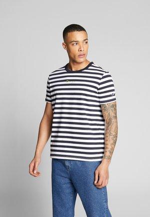 STRIPE EXCLUSIVE - T-shirt con stampa - black/blue