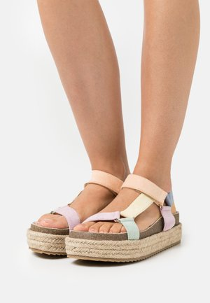 KYRA - Platform sandals - multicolor