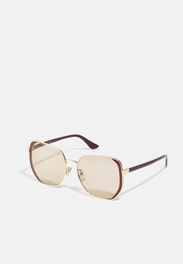 Solglasögon - gold-coloured/red