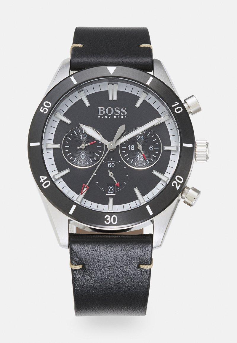 BOSS - SANTIAGO - Chronograph watch - black