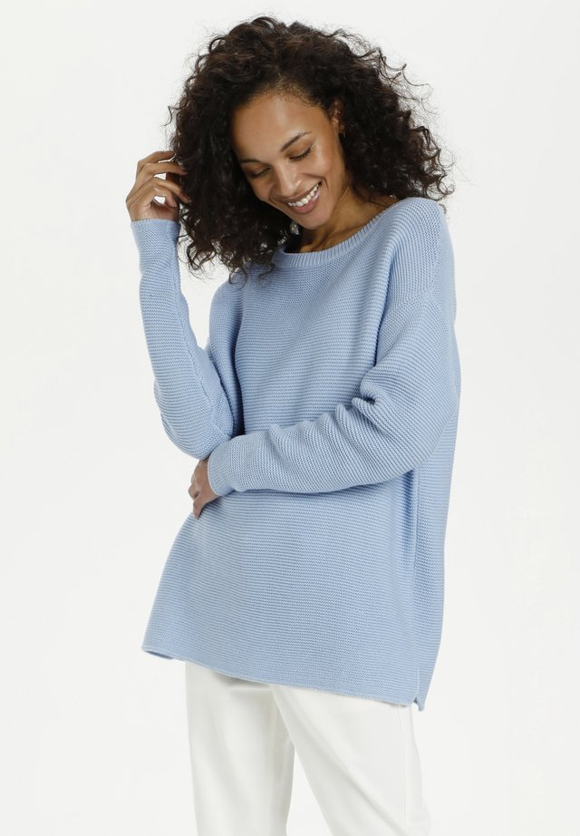 Sweter - chambray blue