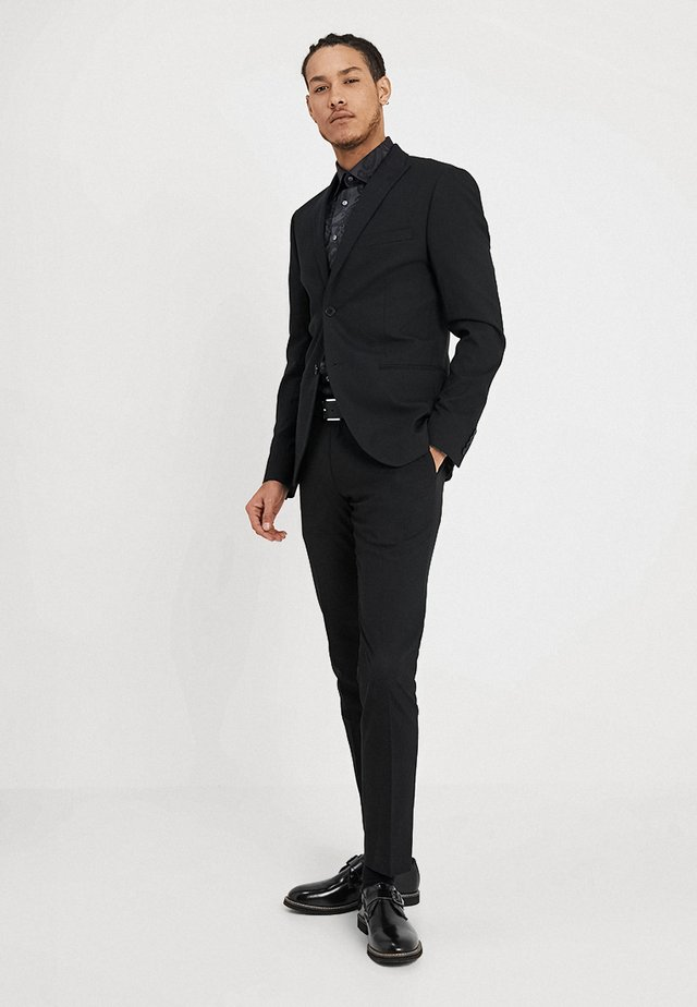 BASIC PLAIN SUIT SLIM FIT - Garnitur - black