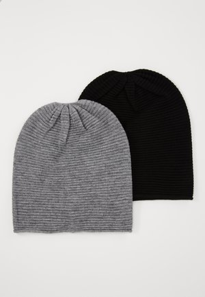2 PACK - Čepice - grey/black