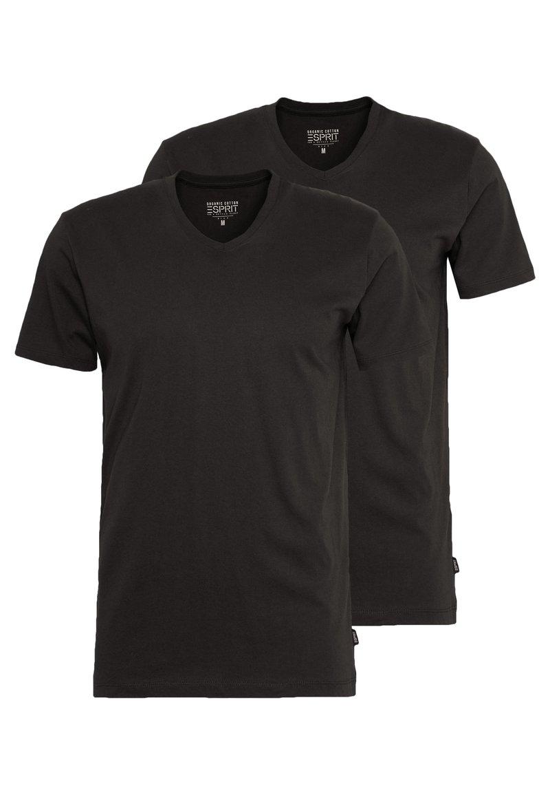 Esprit - 2 PACK - Basic T-shirt - black