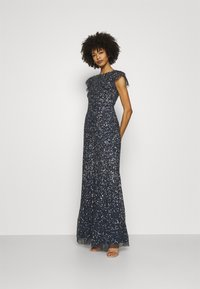 Maya Deluxe - ALL OVER SEQUIN WITH FLUTTER SLEEVE - Iltapuku - navy - 1