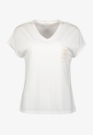 Print T-shirt - wool white