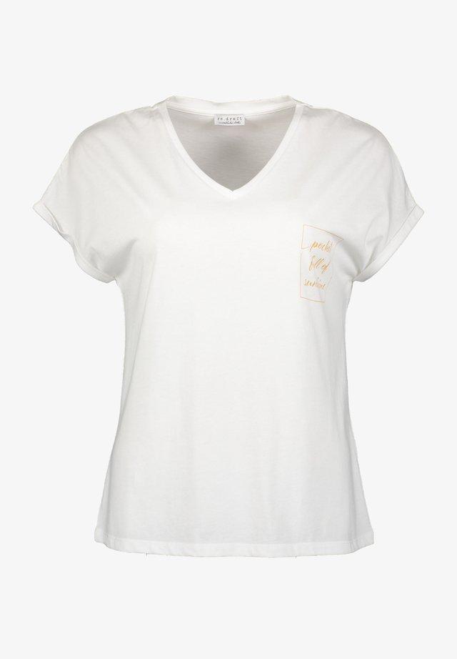 T-shirt z nadrukiem - wool white