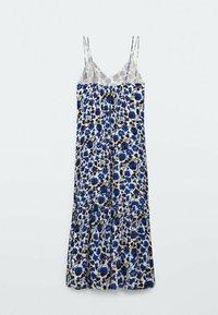 Massimo Dutti - MIT BLUMENPRINT  - Maxi dress - blue - 4