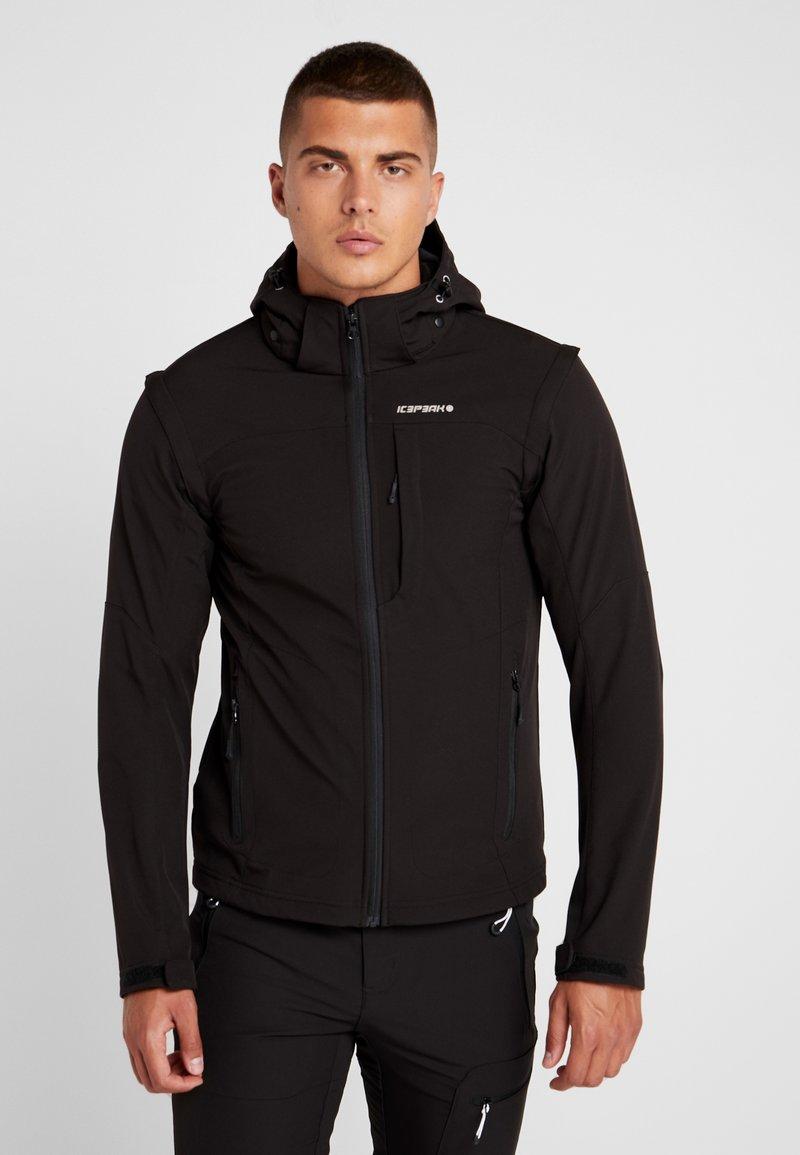 Icepeak - LEONIDAS - Soft shell jacket - black