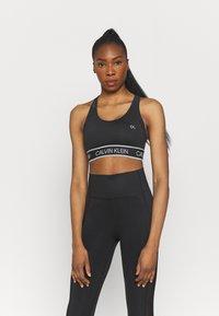 Calvin Klein Performance - MEDIUM SUPPORT BRA - Sportovní podprsenky se střední oporou - black - 0