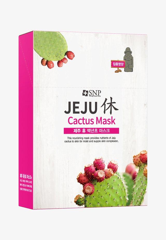 SNP JEJU REST CACTUS MASK 10 PACK - Face mask - -