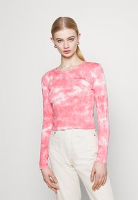 BDG Urban Outfitters - TIE DYE BABY TEE - Top sdlouhým rukávem - pink - 0